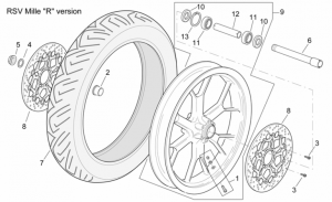 "Frame - Front Wheel Rsv Mille ""R"" Version"