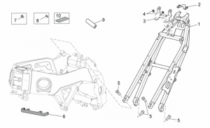 OEM Frame Parts Diagrams - Frame II