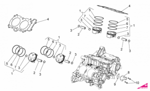 OEM Engine Parts Diagrams - Cylinder - Piston