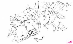 OEM Frame Parts Diagrams - Exhaust Pipe I