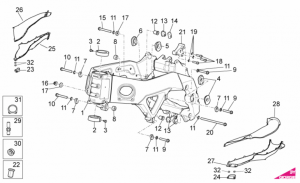 OEM Frame Parts Diagrams - Frame I