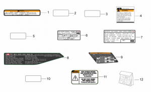 OEM Frame Parts Diagrams - Plate Set And Decal