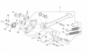 OEM Frame Parts Diagrams - Central Stand