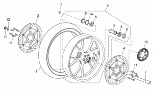 OEM Frame Parts Diagrams - Front Wheel