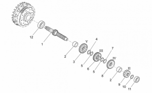 Engine - Primary Gear Shaft