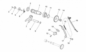 OEM Engine Parts Schematics - Front Cylinder Timing System