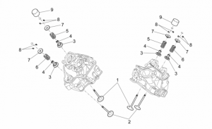 OEM Engine Parts Schematics - Valves