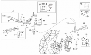 OEM Frame Parts Schematics - Front Brake System II