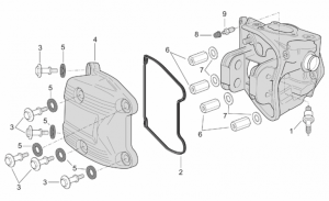 Engine - Head Cover (Ext.Thermostat)