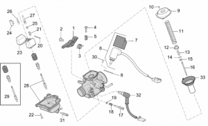 Engine - Carburettor - Components