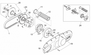 Engine - Pulley Assy., Driven