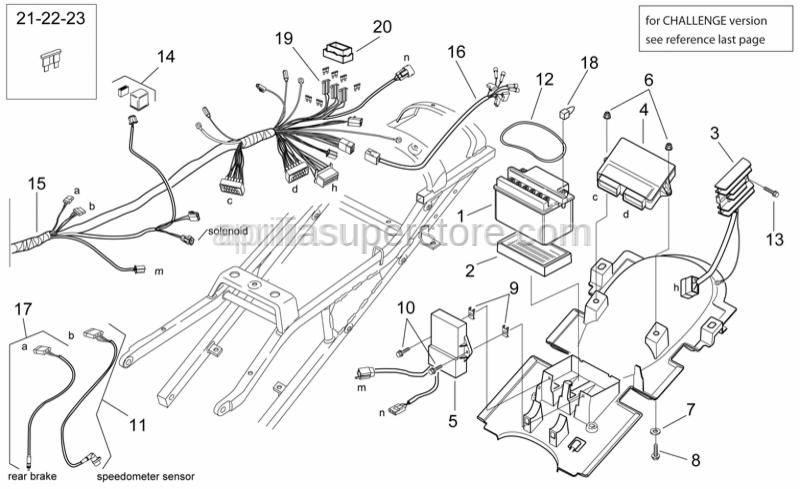 aprilia - rubber fuse box