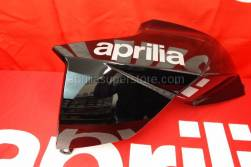 Aprilia - RH side panel, Aprilia black w/ decals applied
