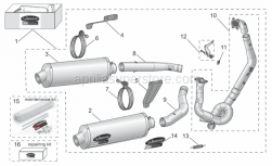 Aprilia - Left Hand Manifold Pipe in Ti for Evo6