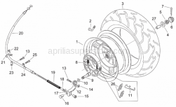 Aprilia - Screw w/ flange M6x30