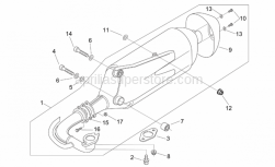 Aprilia - Silent block, exhaust pipe