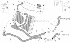 Aprilia - Water cooler hose union