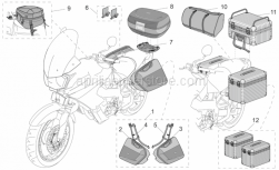 Aprilia - LH saddlebag support kit