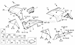 Aprilia - LH Lowerr fairing decal Aprilia Factory