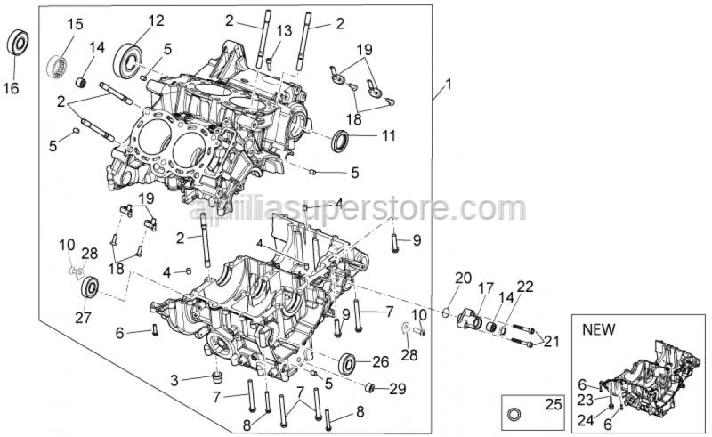 Aprilia - Special cap screw M5x16
