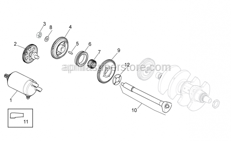 Aprilia - Denso freewheel gear z=49