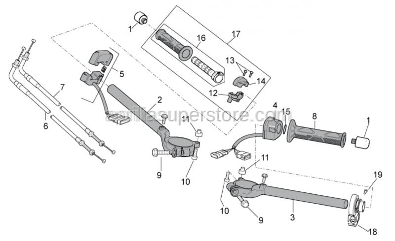 Aprilia - Gearbox selector control
