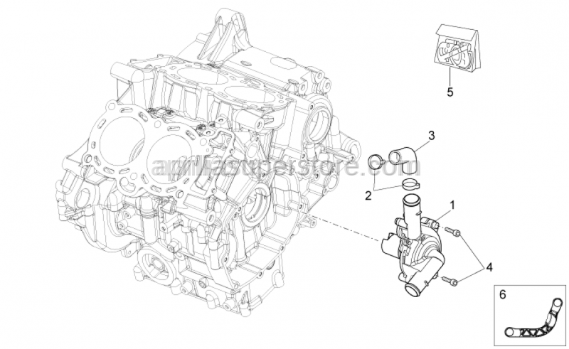 Aprilia - Water pump assy