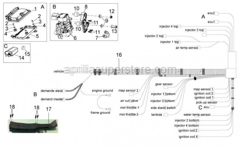 Aprilia - Accelerator position sensor