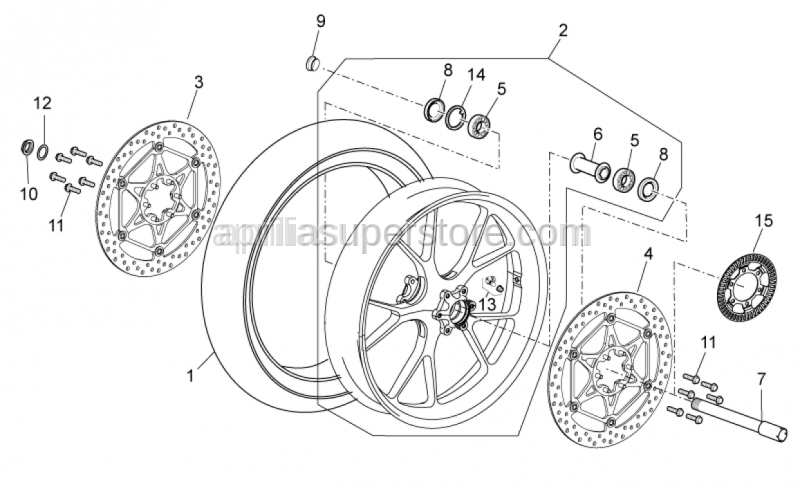 Aprilia - Front/rear tyre 120/70-17 M/C (58W)