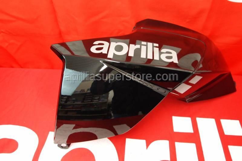 Aprilia - RH side panel, Aprilia black w/ decals applied