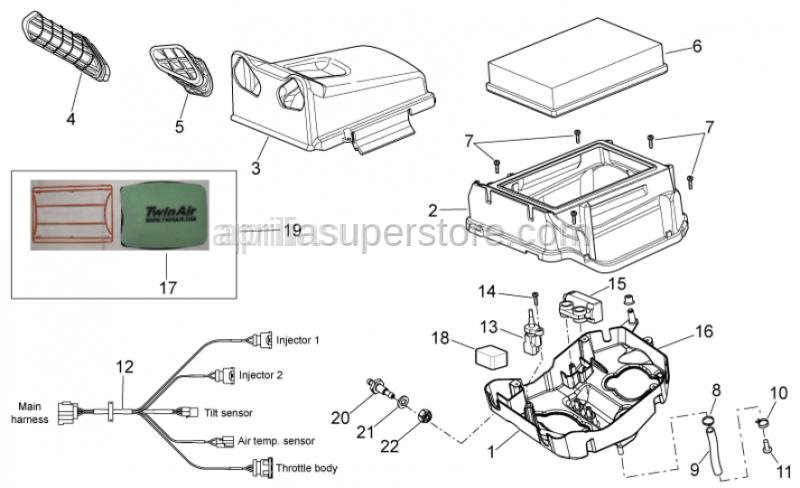 Aprilia - Racing filter kit