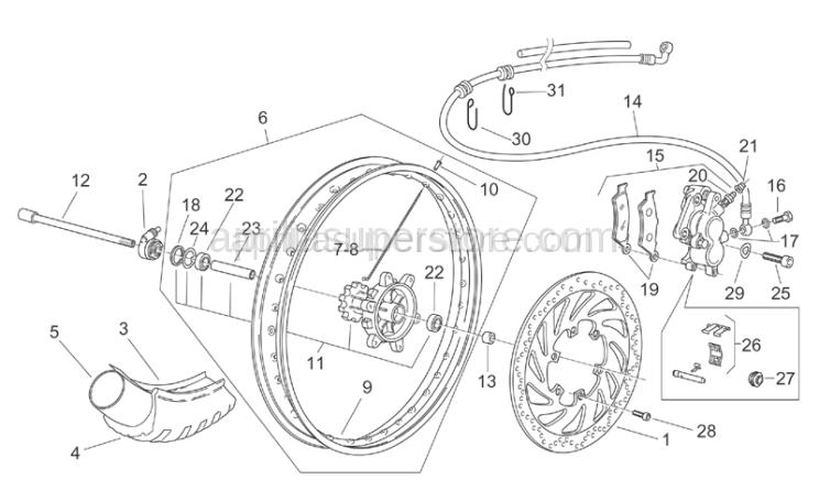 Aprilia - Front brake disc, stainl. D300