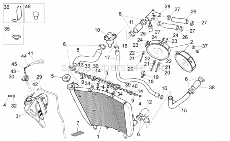 Thermostat-engine pipe
