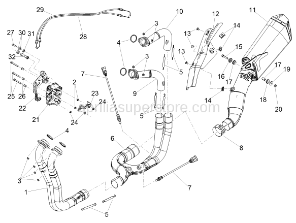 Central exhaust manifold