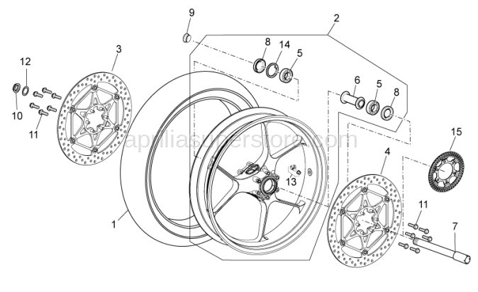 Front wheel spindle