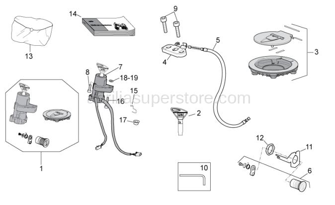 Fuel filler cap and lock