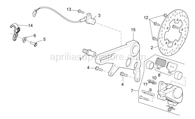 Rear brake caliper support