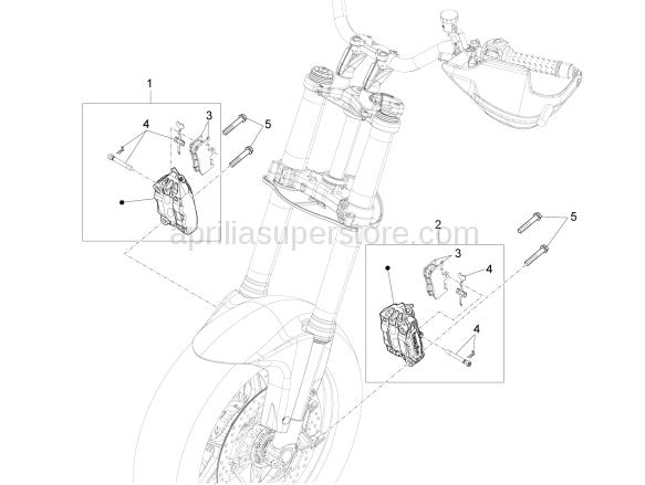 LH front brake caliper