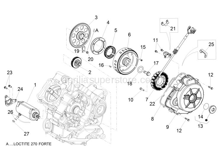 Starter motor gear