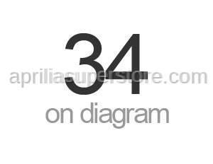 Aprilia - Screw w/ flange M6x75