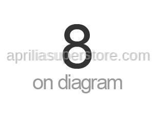 Aprilia - Hose clip, green D11x6,6x1