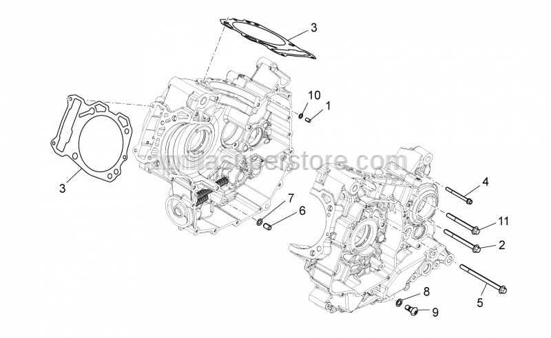 Aprilia - PACKING BETWEER CRANKCASE - CYLINDER 0,4