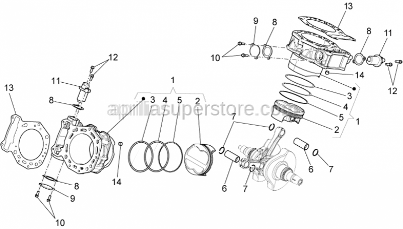 Aprilia - GASKET BETWEEN CYLINDER AND CHAIN TIGHEN