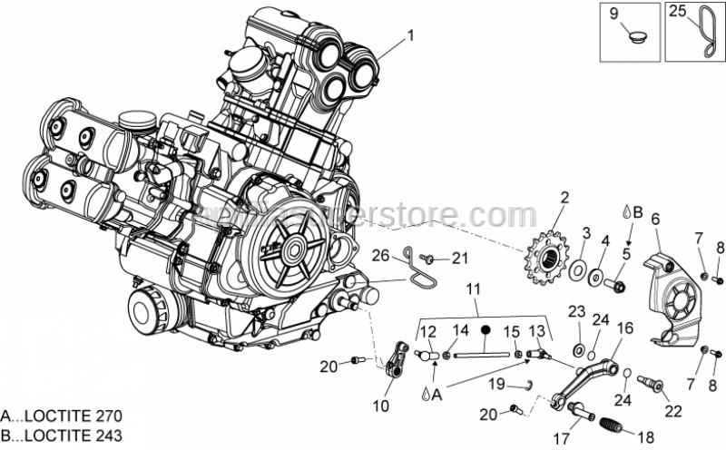 Aprilia - VITE M10x1,25