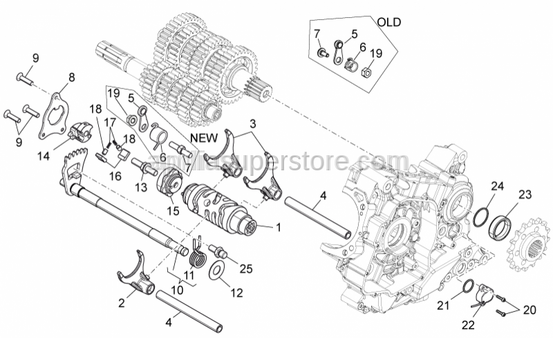 Aprilia - SCREW WITH BUSH M6X1 L24 HEX8