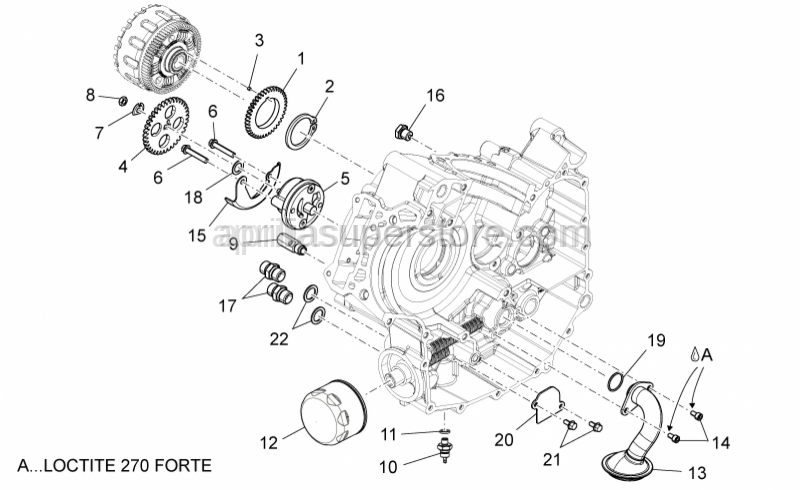 Aprilia - Oil pump drive gear