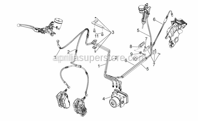Aprilia - Rear brake pipe