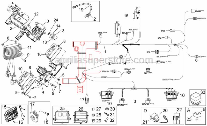 Aprilia - Inox sel tapping screw 2,9x12