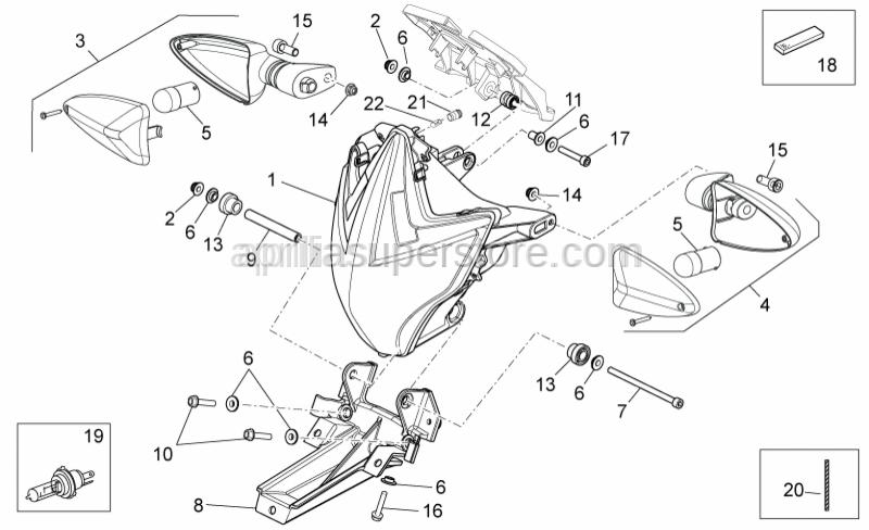 Aprilia - Screw for air cleaner case lower-M6x100