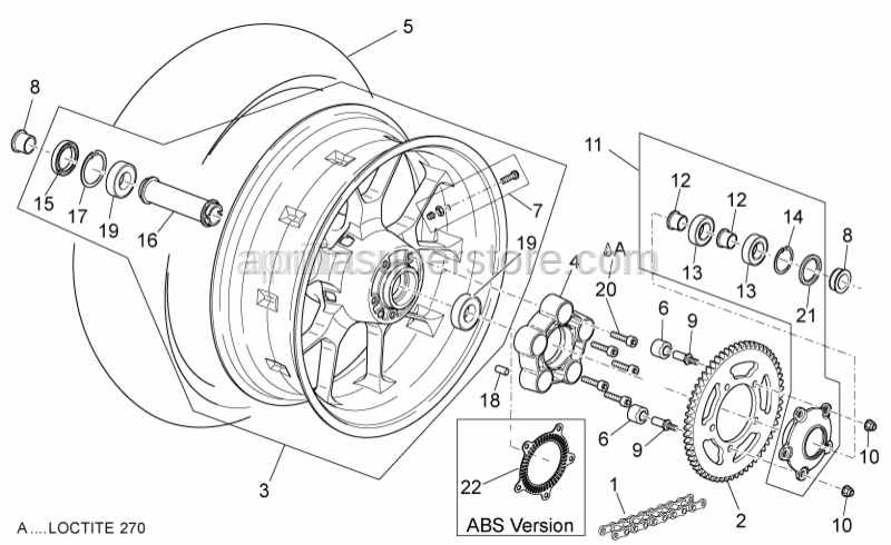 Aprilia - Rear Speedometer encoder